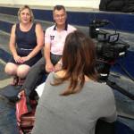 Roseane e Archimedes - entrevista para Warner Channel
