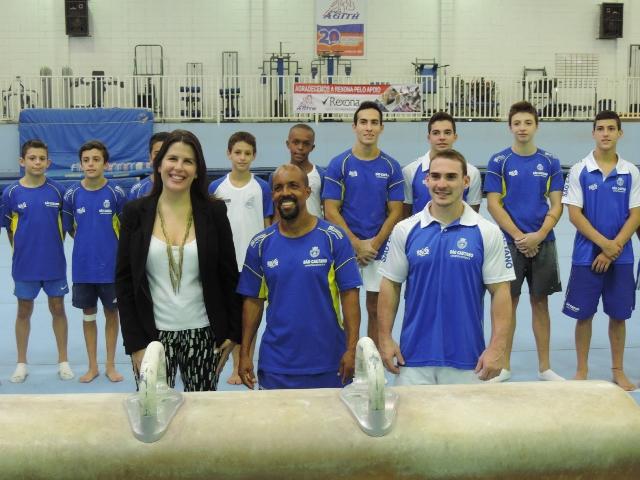 Thais Hagge, de Rexona, Marcos Goto e Arthur Zanetti e ginastas de São Caetano