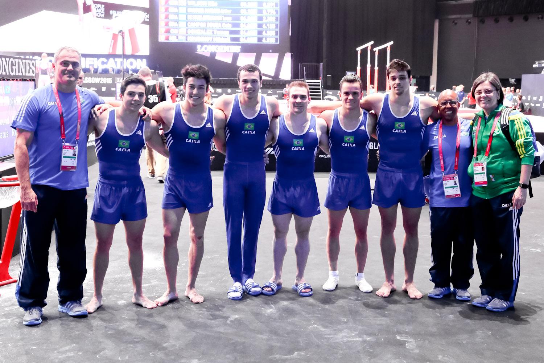A equipe brasileira em Glasgow