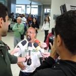Recepção no Aeroporto após o Pan de Toronto