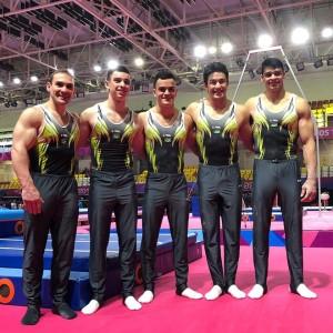 Equipe masculina em Lima